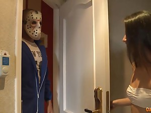 Jason Vorhees brutally fucks a good-looking girl on Friday the 13th