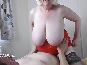 My lover gets my big tits out up a hotel yard