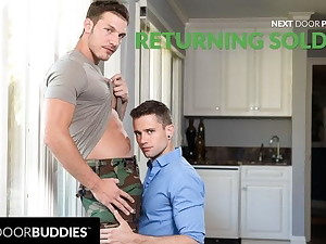 Returning Soldier Can't Resist Sexual connection Urges With Grey Friend