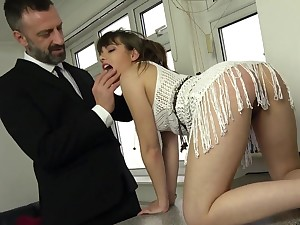 The dick suits her close-knit holes less a fully dominant anal shag