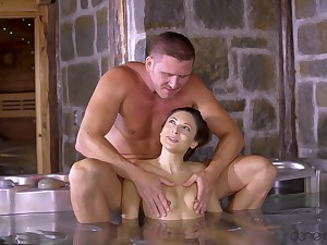 X Talia Mint gives an amazing blowjob and rides in cowgirl