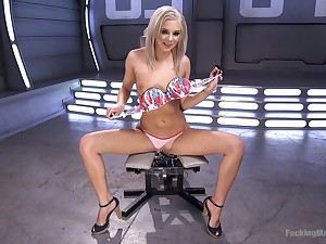 Sweet blondie Tiffany Watson gets her pussy drilled off out of one's mind a machine