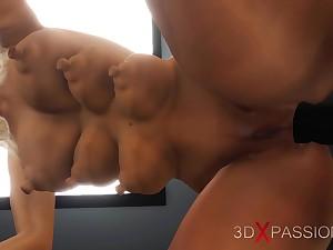 Randy blonde, fuck machine plus many boobs!