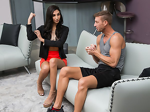 Gianna Dior gets worked OUT and improbable HARD overwrought the brush married trainer