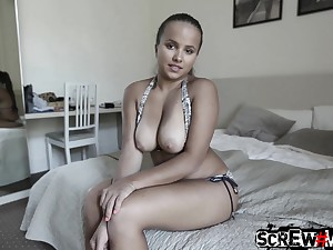 Gorgeous Hungarian babe near epic curves fucks a tourist in his New Zealand pub room