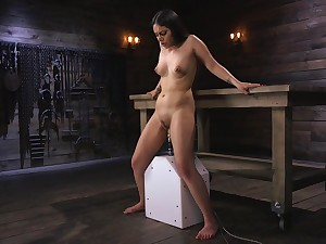 Solo model Rose Darling moans with pleasure during non-fatal agony