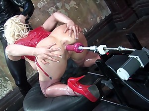 Blonde wife with glasses sucks a dick and gets irritant penetrated