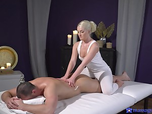 A marvelous round of sexual massage for one lucky scrounger