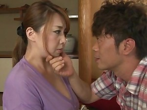 Chubby Japanese wife Yumi Kazuma enjoys getting licked and dicked