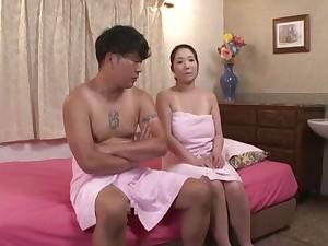 Nuru massage with nice fucking makes chubby Nanase Sana cum