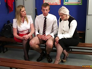 Lad stroked roughly the locker room by Holly Nuzzle and Sally Rare
