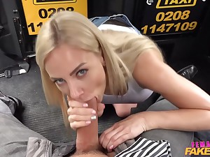 Nathaly Cherie - Female Taxi Driver Gets Oiled Up With an increment of Fucked Balls Deep
