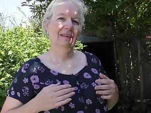 Caroline - British Mature Lady Playing Outside