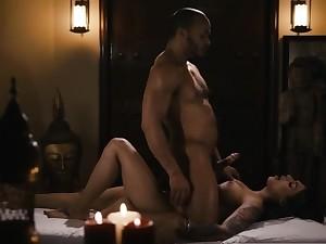 TS Eva loves sucking her Masseuse dick