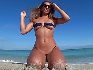 Nasty Milf Shows Her Hot Boobs On The Shore