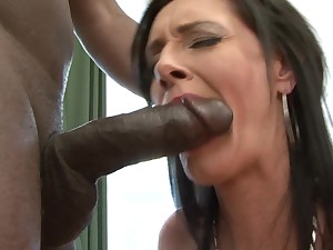 Interracial anal coition with dirty full-grown pornstar Laura Dark