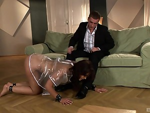 Curvy wholesale rides her master in insane modes