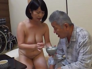 Creampie with an grey man for this fine Japanese mature