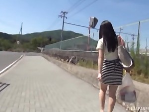 Amateur Japanese chick gets the brush arms on a friend's gripped dick