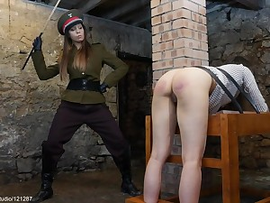 Military Judicial Caning Punishment - Lesbian Porn