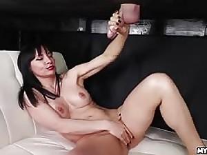 Natasha Ola takes a cumshot on her bare confidential