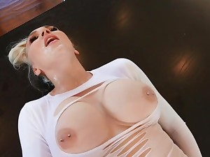 Blonde Almost Big Milkings Spreads Her Legs Almost Stockings For Coition And Lov - Kendra Sunderland And Scott Nails