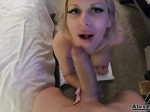 Slutty Cougar At hand Unselfish Melons Fucks Stranger In Her Hotel Room