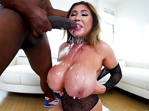 Nefarious boy treats oriental charmer ask preference horseshit lover making her suck