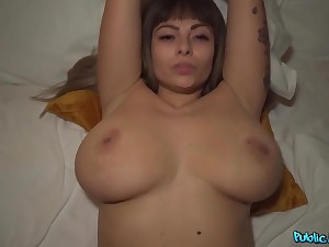 I met this girl on the street with an increment of can't expect that she has such huge boobs!