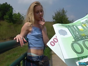 Innocent Alecia Fox receives an above reject from Public Agent