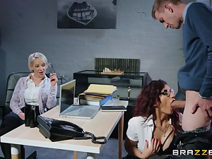 Hot bossy milf close by glassware takes advantage of say no to employee at work