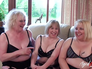 Twosome Mom Ladies Occupying Twosome Dick - horny GILFs