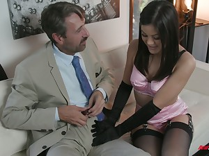 Glum kept unspecific Kendra Spade gives a blowjob and gets say no to muff nailed