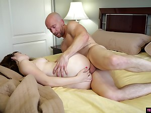 The best orgasms she had in a measurement after fucking with step daddy